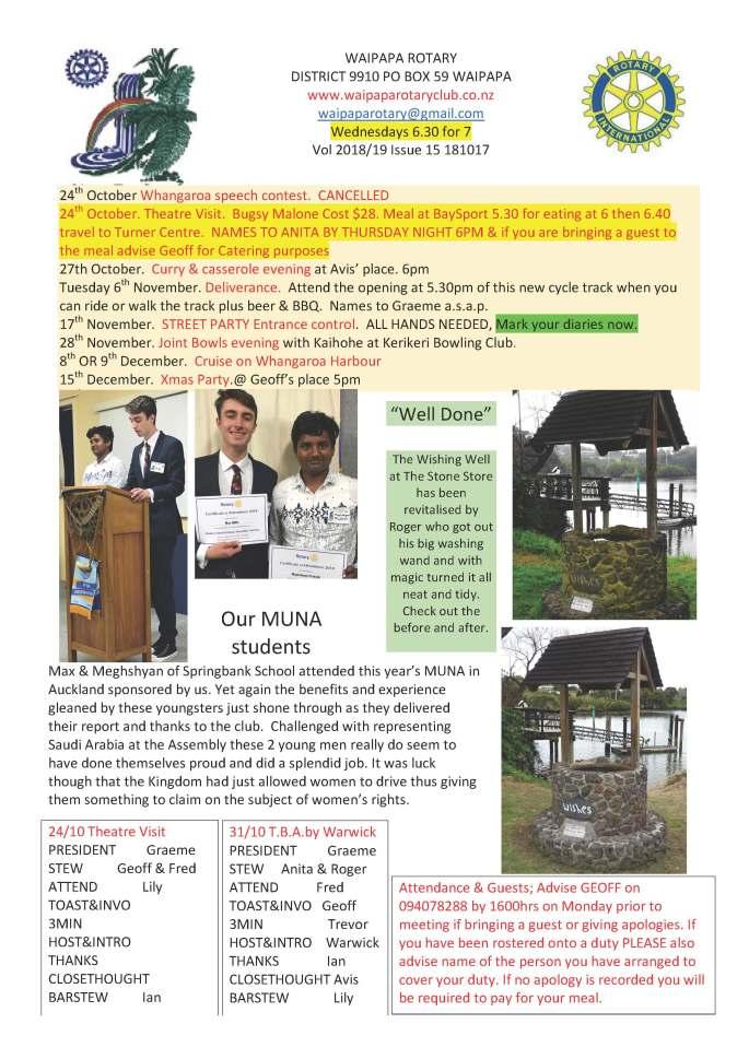 181017 Waipapa Rotary Bulletin copy