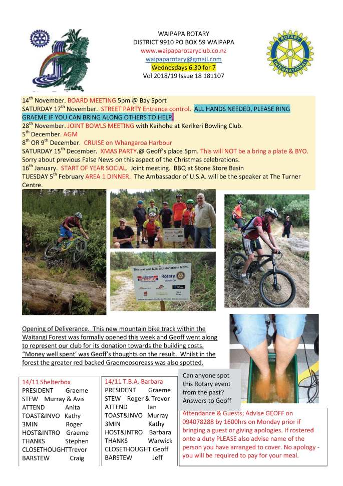 181107 Waipapa Rotary Bulletin copy