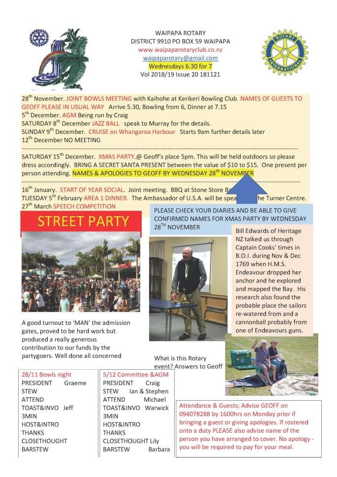 181121 Waipapa Rotary Bulletin copy
