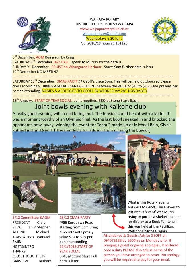181128 Waipapa Rotary Bulletin copy