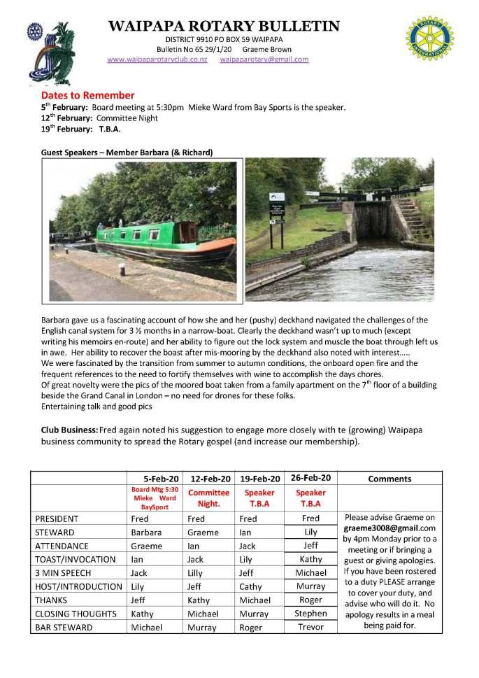 Bulletin 200129