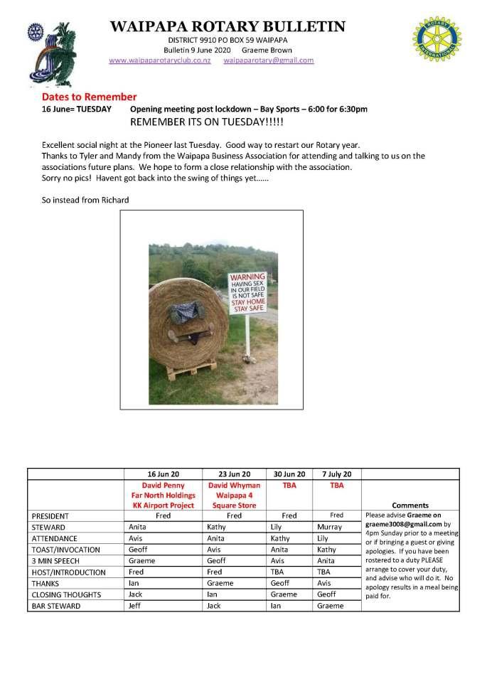 Bulletin 090620