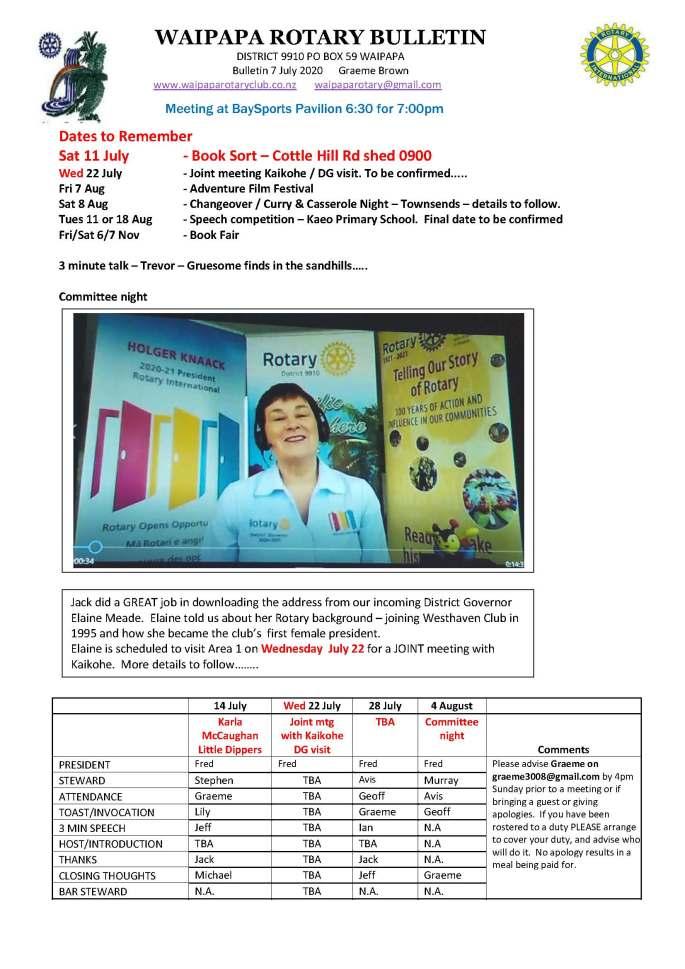 Bulletin 070720