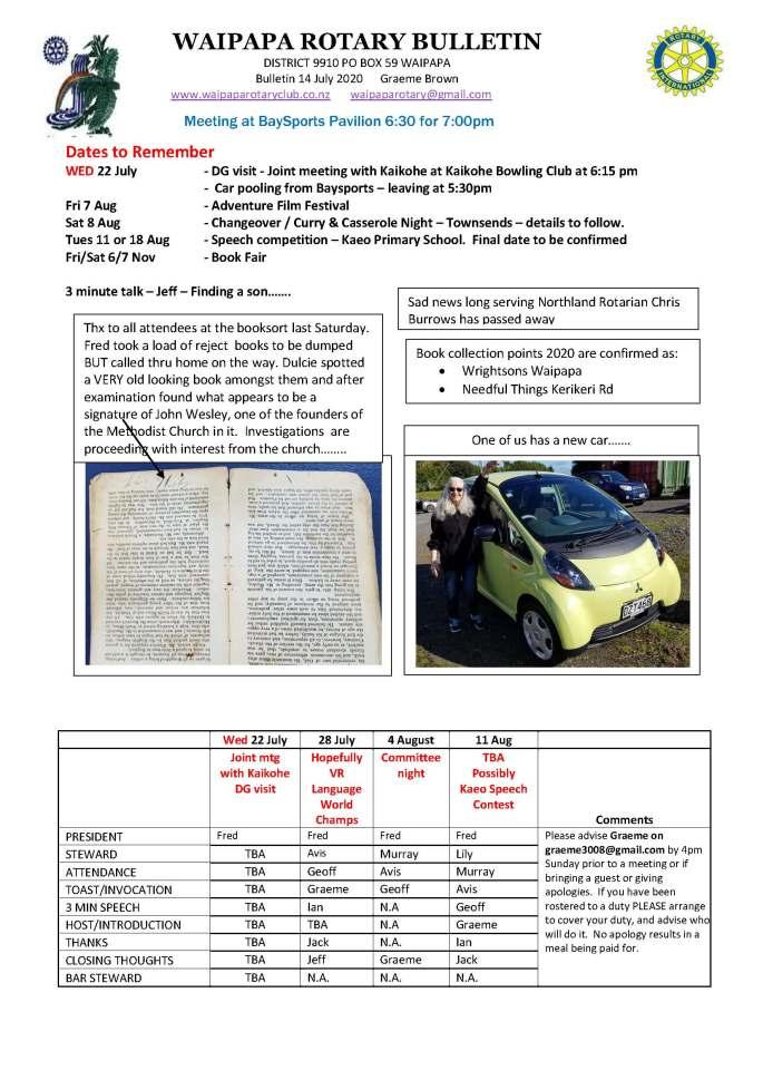 Bulletin 140720