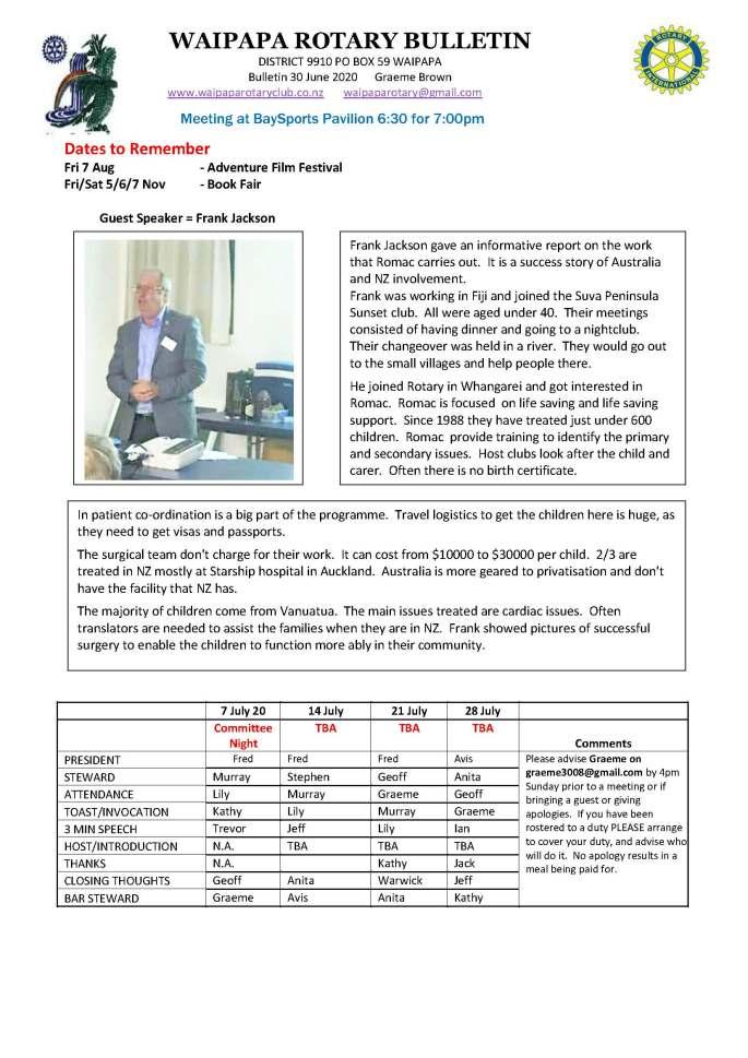 Bulletin 300620